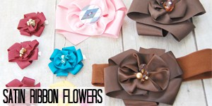 Satin Ribbon Flowers