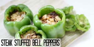 Steak Stuffed Bell Peppers