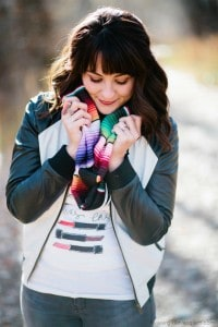 Fall Outfit with Colorful Accents on www.girllovesglam.com