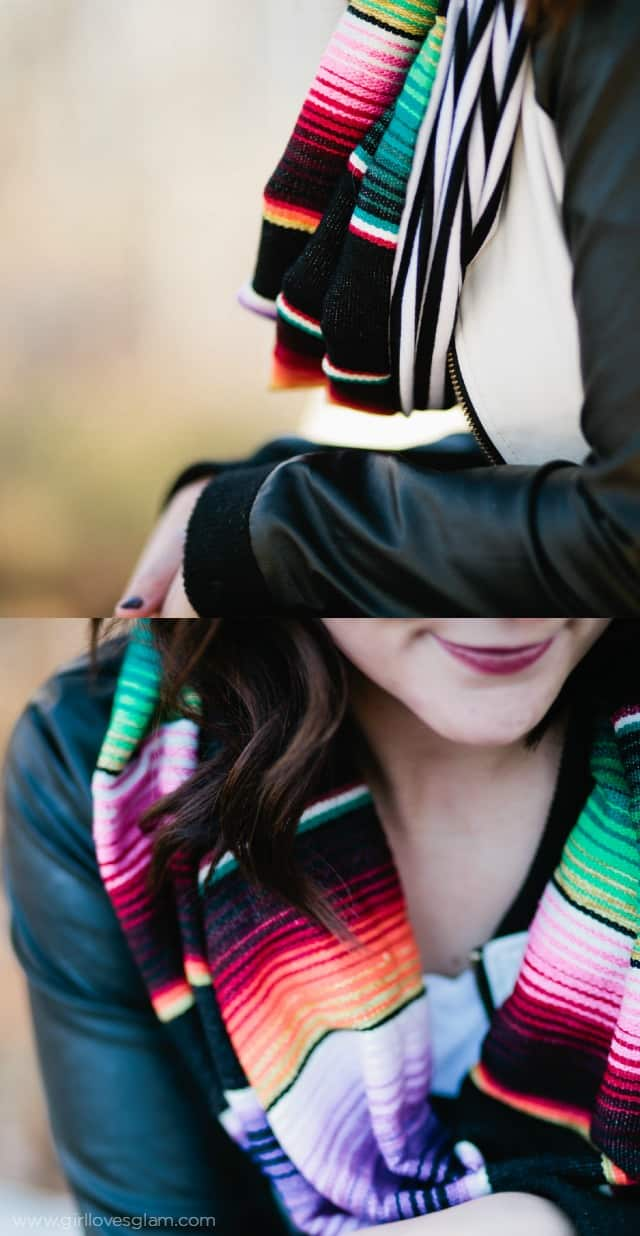 Gorgeous Mexican Serape Scarf on www.girllovesglam.com