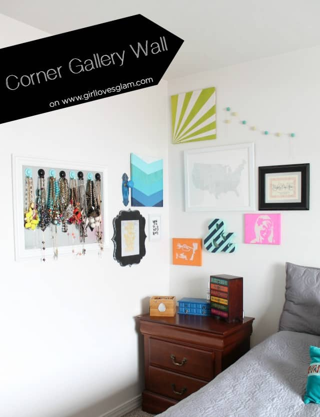 How to create a corner gallery wall on www.girllovesglam.com