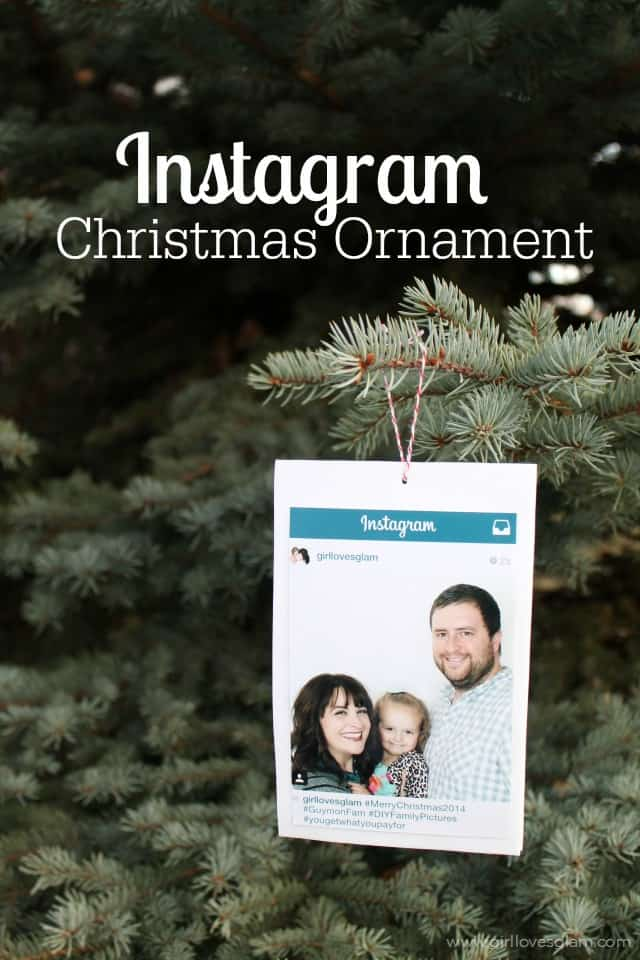 Instagram Christmas Ornament Easy Tutorial to make this for under $2 on www.girllovesglam.com
