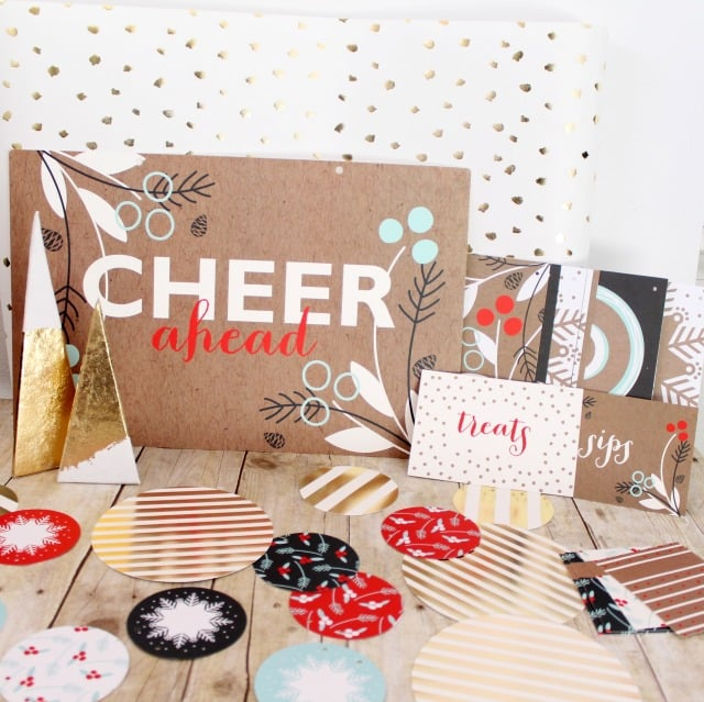 Minted Holiday Party Decor on www.girllovesglam.com
