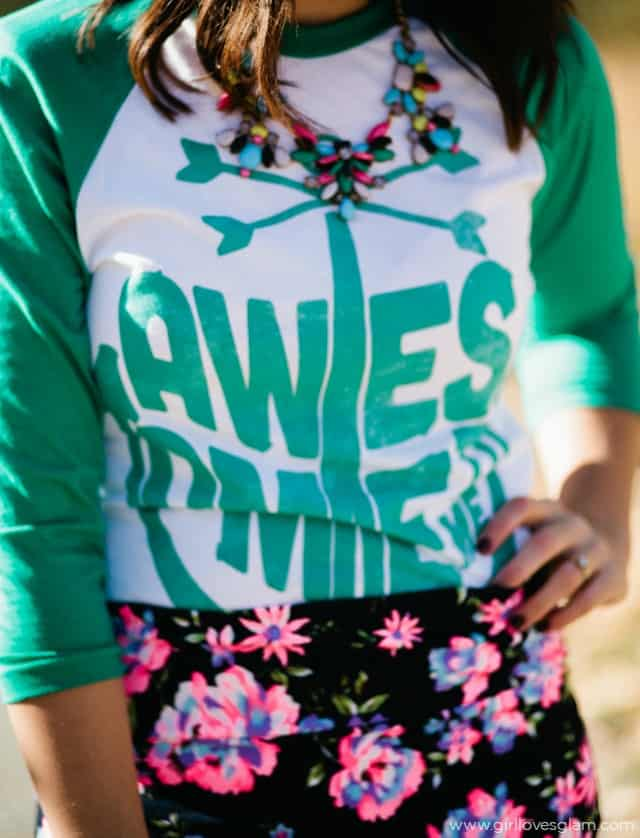 The Printed Palette Awesoem Time Baseball Tee on www.girllovesglam.com