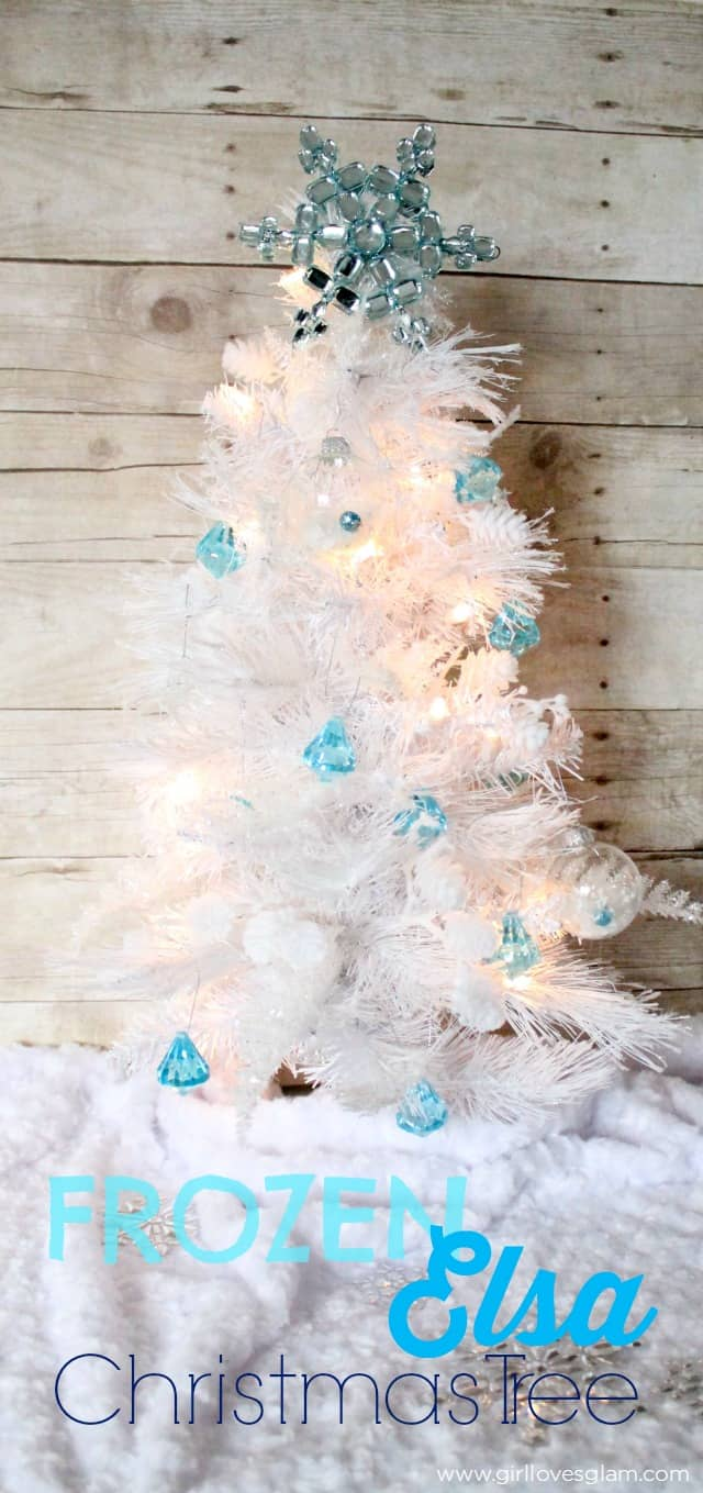 frozen elsa christmas tree on wwwgirllovesglamcom - Disney Princess Outdoor Christmas Decorations