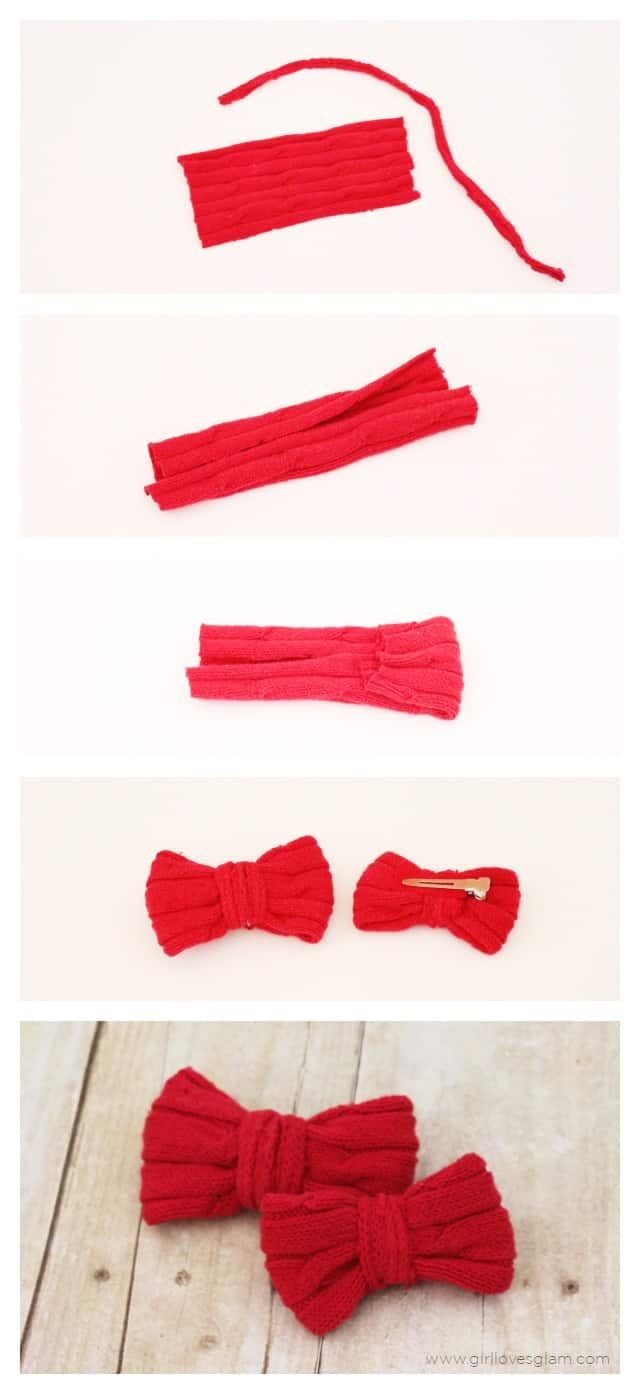 How to make sweater bows on www.girllovesglam.com