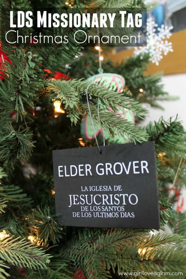 LDS Missionary Tag Christmas Ornament on www.girllovesglam.com