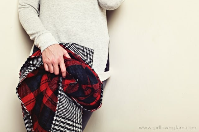 Girl Gift Ideas like this Plaid Blanket Scarf