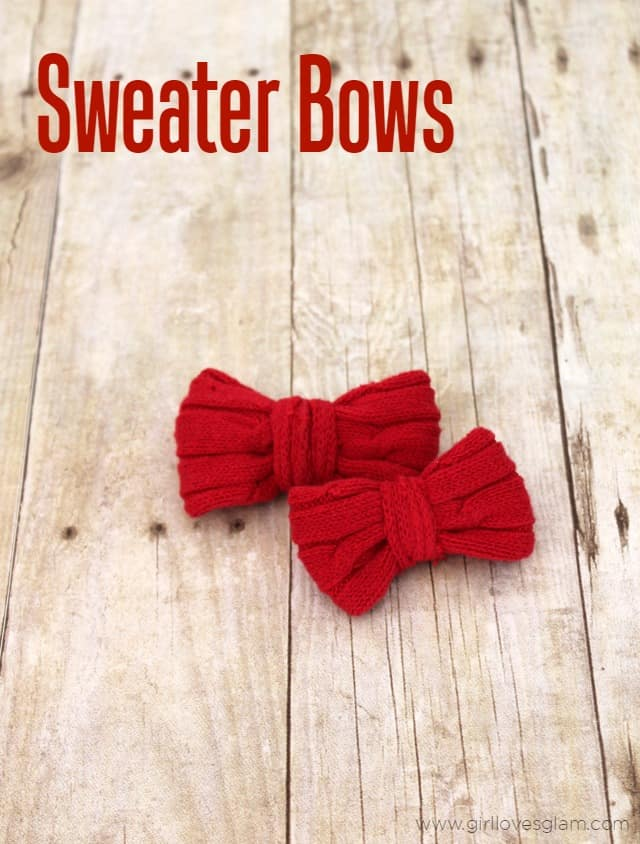 Sweater Bows Tutorial on www.girllovesglam.com