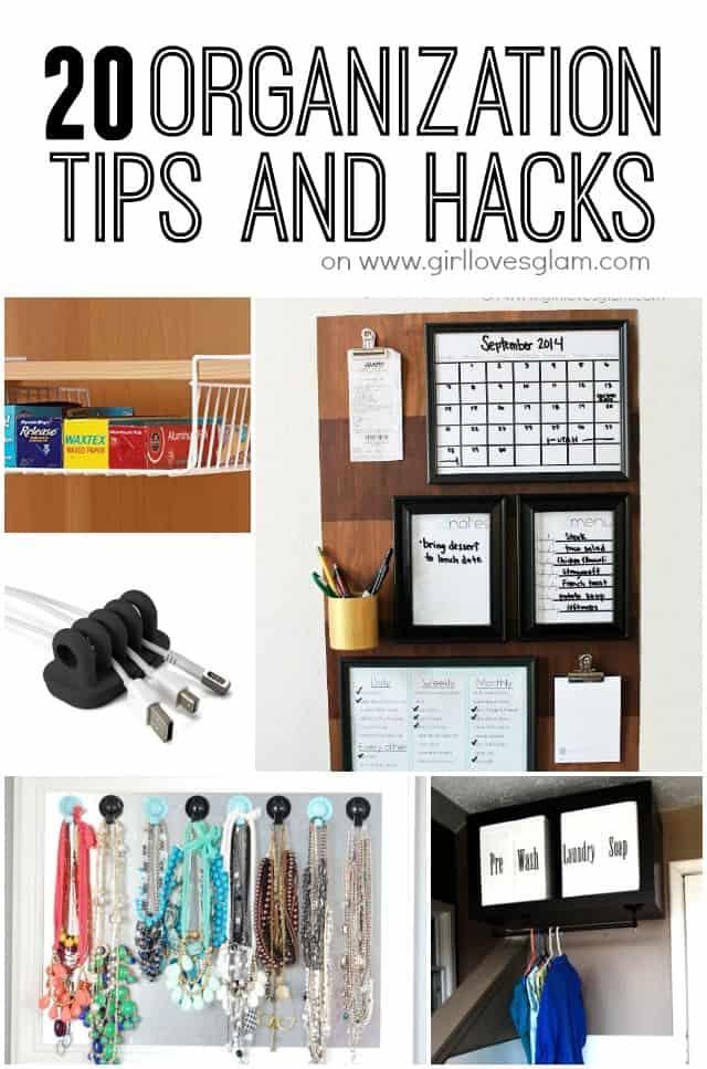 20 Organization Tips And Hacks Girl Loves Glam