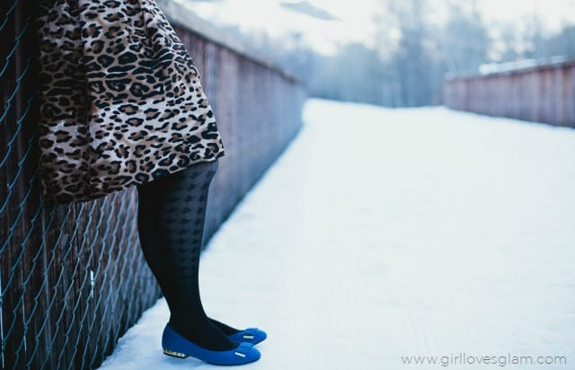 Cheetah Print and Cobalt Blue Date Night Look on www.girllovesglam.com