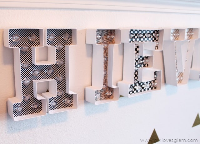 Decorated Marquee Letters on www.girllovesglam.com