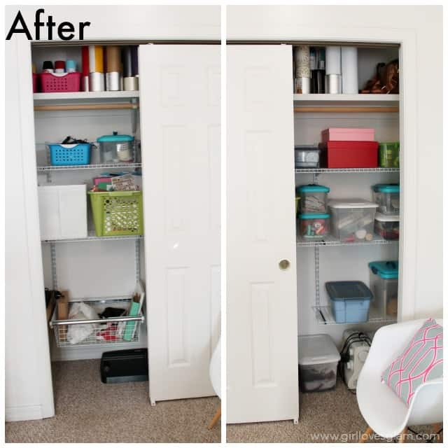 Easy Closet Organization For Craft Room On Www.girllovesglam.com