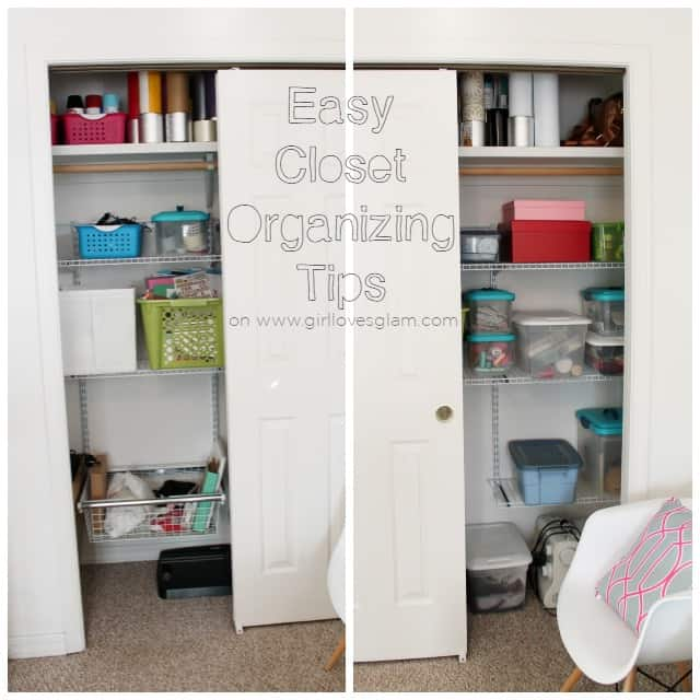 Easy Closet Organizing Tips on www.girllovesglam.com