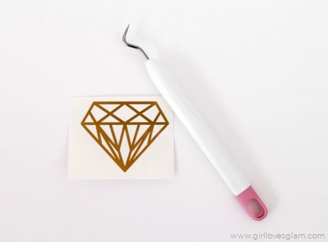 Geometric Diamond Decal on www.girllovesglam.com