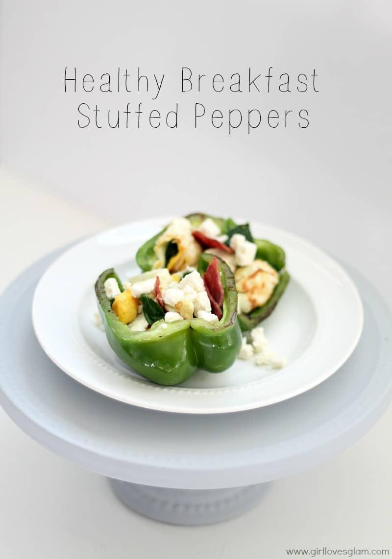 Healthy Breakfast Stuffed Peppers on www.girllovesglam.com