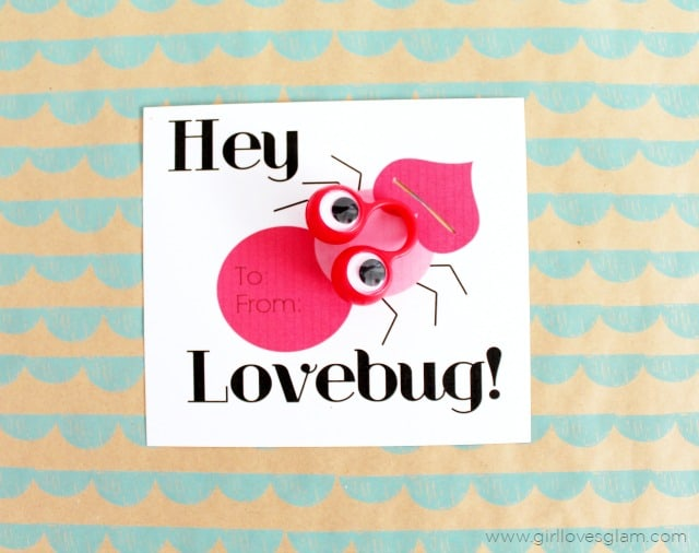 Hey Lovebug Free Printable Valentine on www.girllovesglam.com