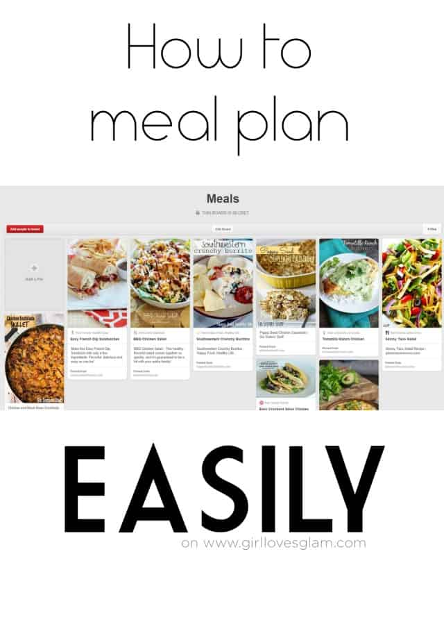 How to Meal Plan Easily on www.girllovesglam.com