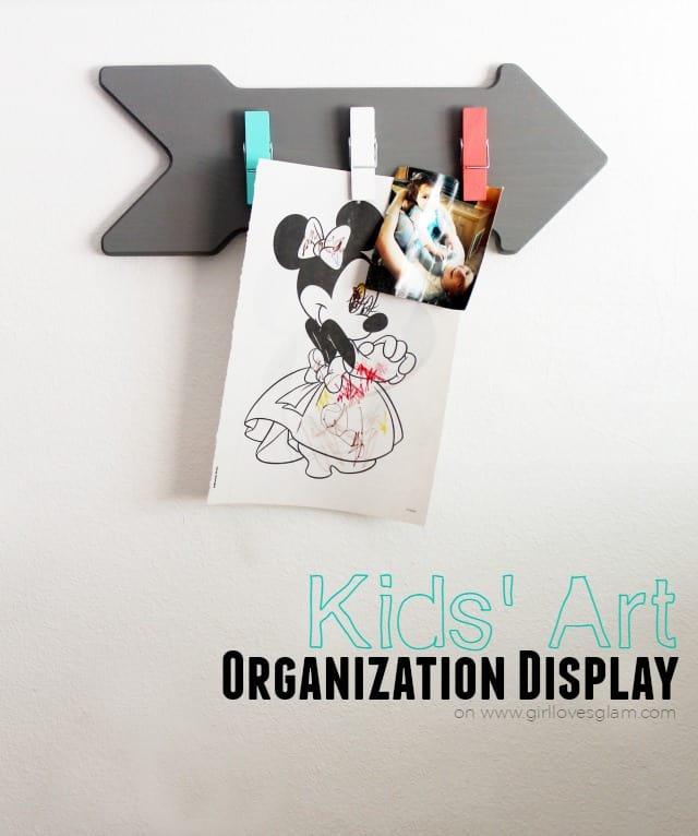 Kids' Art Organization Display on www.girllovesglam.com