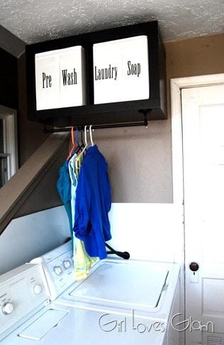 Laundry Organization Center on www.girllovesglam.com