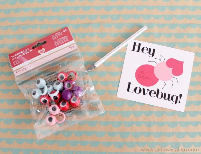 Lovebug DIY Non Candy Valentine on www.girllovesglam.com
