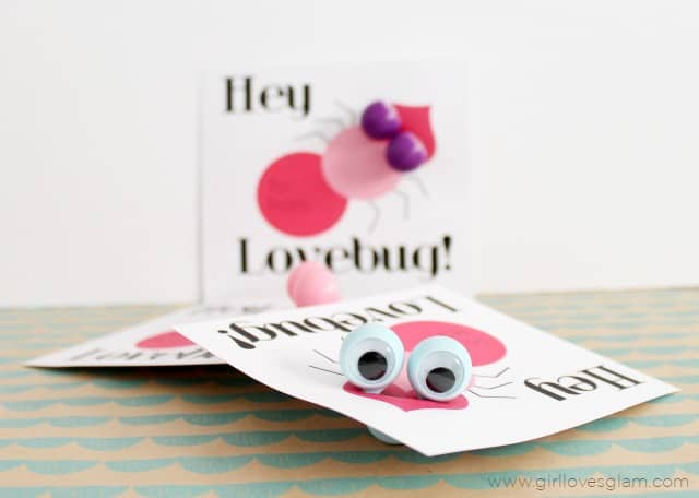 Lovebug Valentine Free Printables on www.girllovesglam.com
