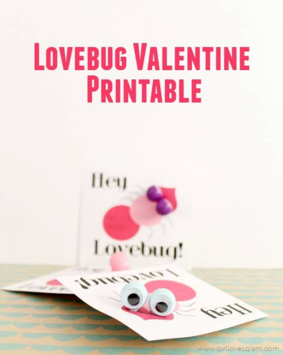Lovebug Valentine Printable