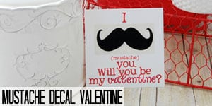 Mustache Decal Valentine