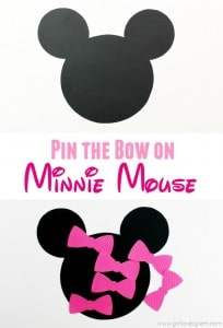 Pin the Bow on Minnie Mouse Game on www.girllovesglam.com