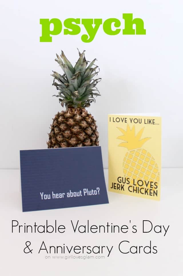 Psych Valentine's Day and Anniversary Cards on www.girllovesglam.com