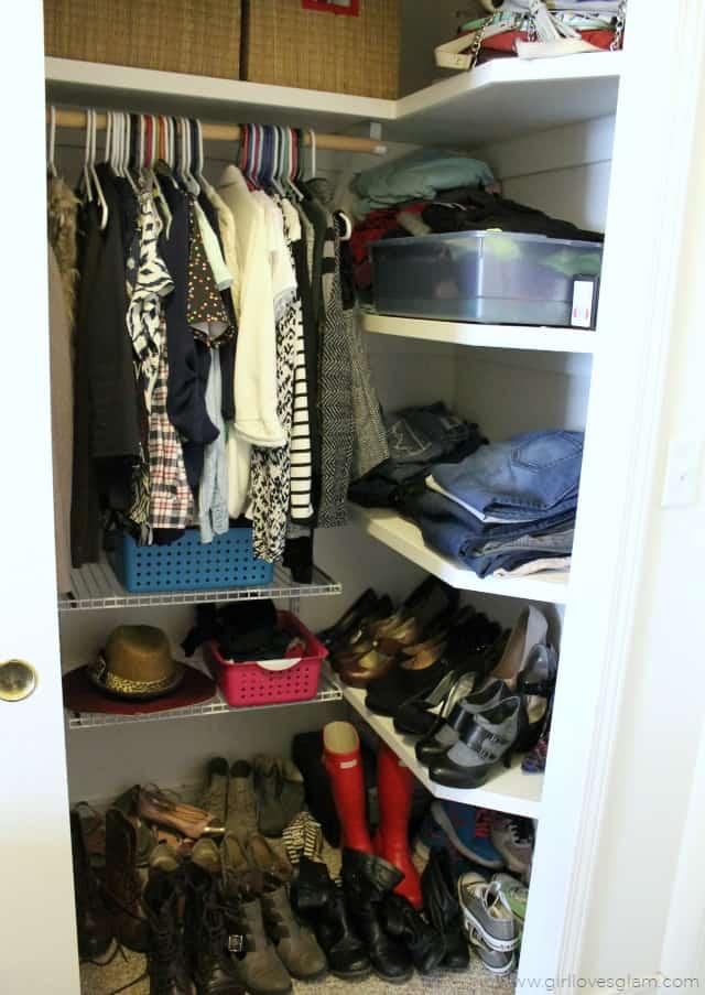 Quick Closet Organization on www.girllovesglam.com