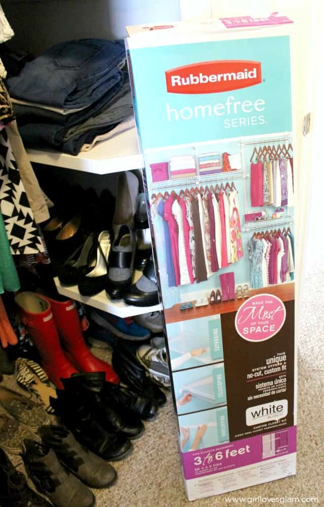 Rubbermaid Homefree Closet System on www.girllovesglam.com
