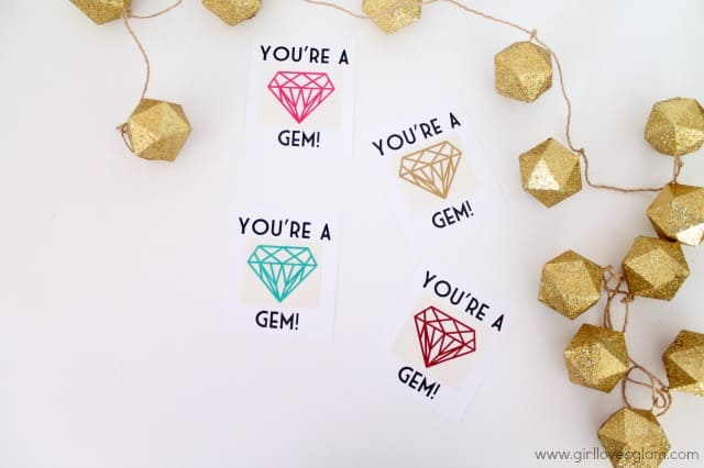 You're a Gem Diamond Decal Valentine on www.girllovesglam.com