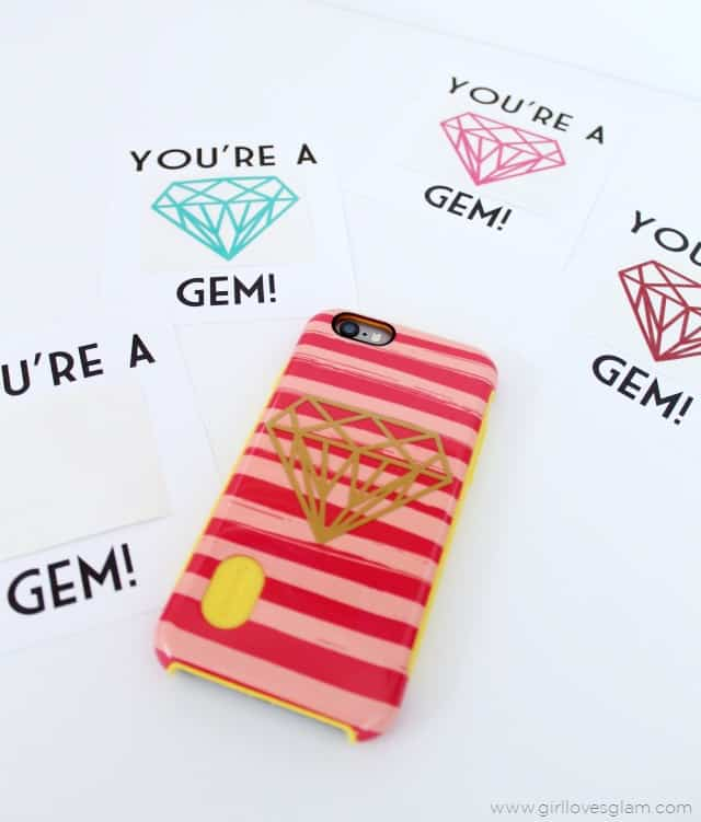 You're a Gem teen valentine idea on www.girllovesglam.com
