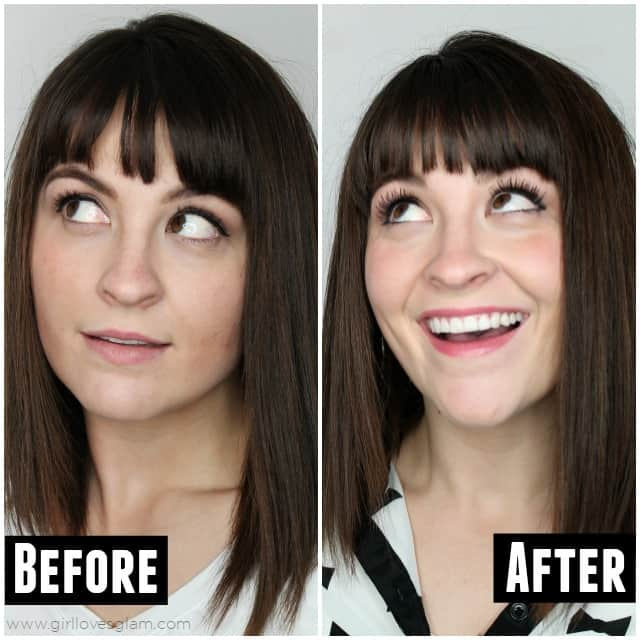 Before and After Infinite Lash on www.girllovesglam.com