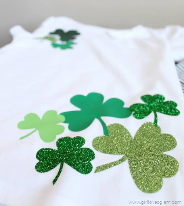 DIY Shamrock Shirt on www.girllovesglam.com