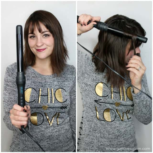How to curl hair with a curling wand on www.girllovesglam.com
