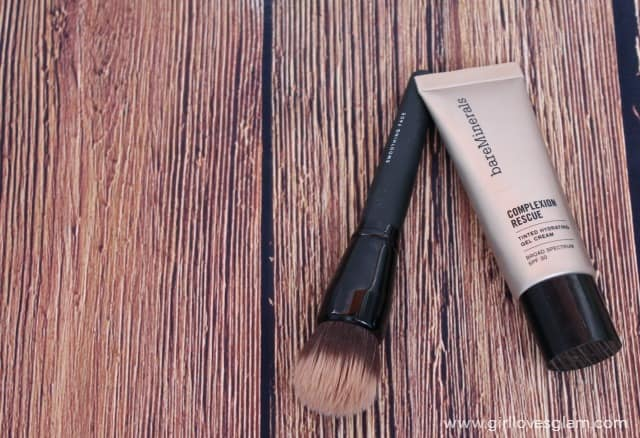 BareMinerals Complexion Rescue and Brush on www.girllovesglam.com