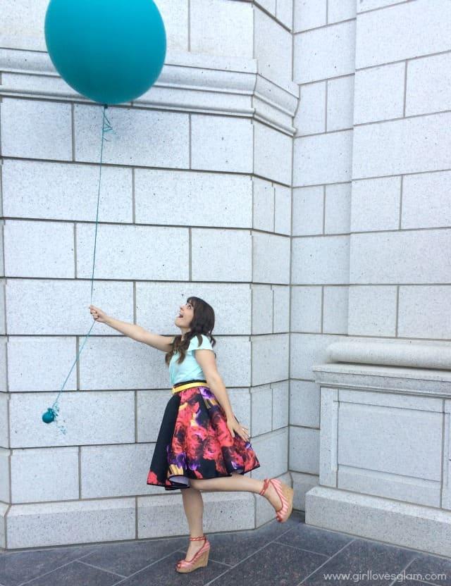 Colorful Floral Skirt on www.girllovesglam.com