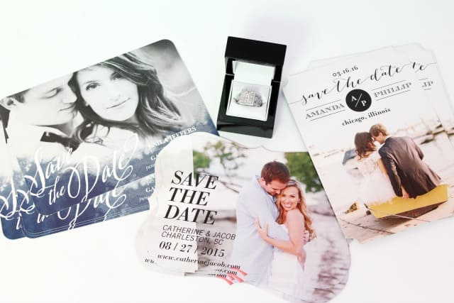 Cut Out Save the Date Cards on Shutterfly