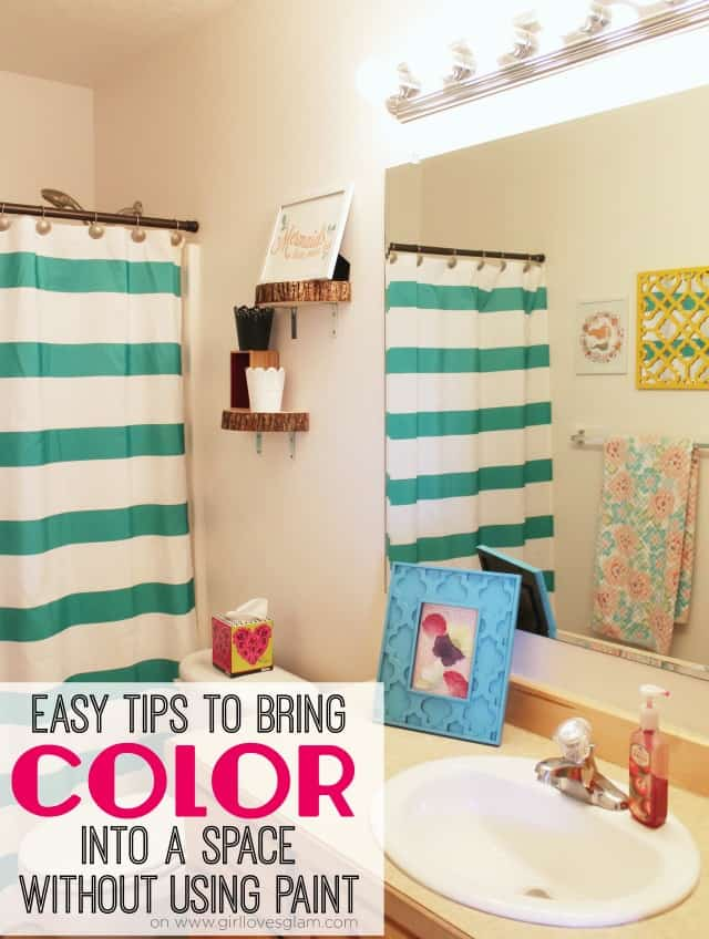 Easy Tips to Bring Color Into a Space Without Using Paint on www.girllovesglam.com