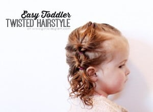 Easy Toddler Twisted Hairstyle