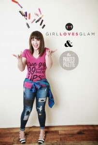 Girl Loves Glam and The Printed Palette tshirt