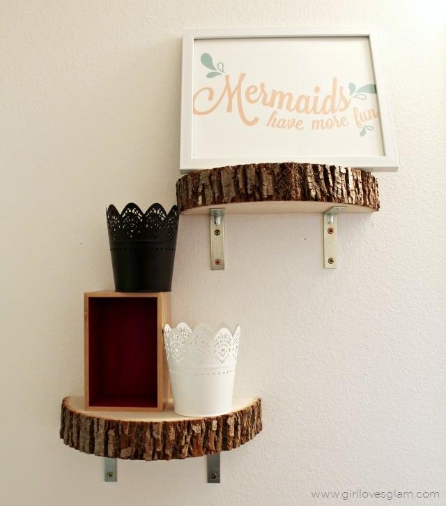 Mermaid Art and Modern Shelves on www.girllovesglam.com