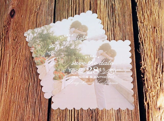 Shutterfly Scalloped Save the Date Cards