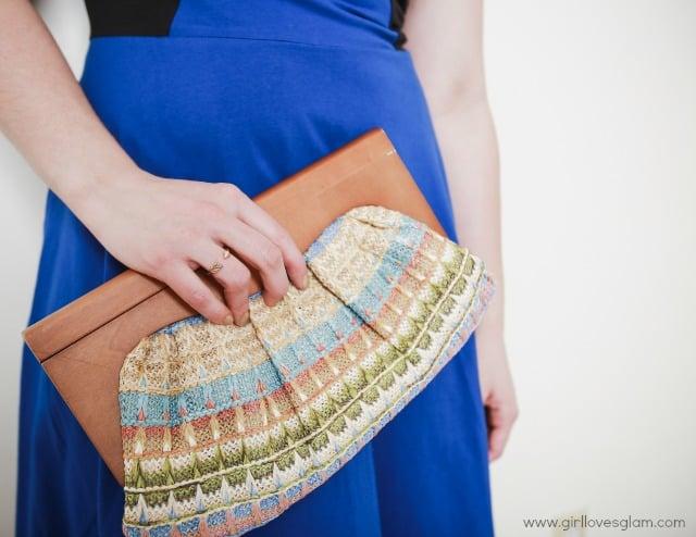 eShakti Dress and clutch on www.girllovesglam.com