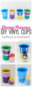 Disney Princess DIY Vinyl Cups on www.girllovesglam.com