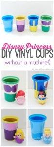 Disney Princess DIY Vinyl Cups on www.girllovesglam.com