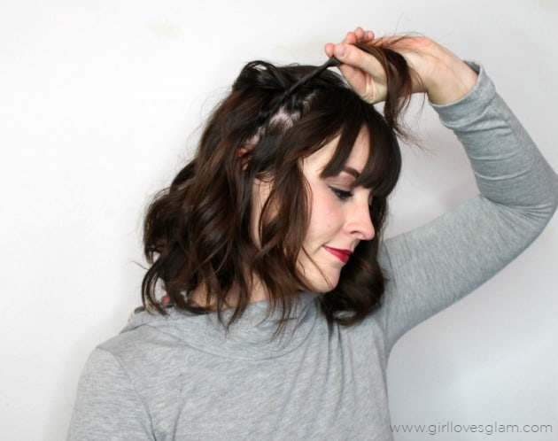Easy Twist Hairstyle on www.girllovesglam.com