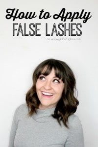 How to Apply False Lashes on www.girllovesglam.com